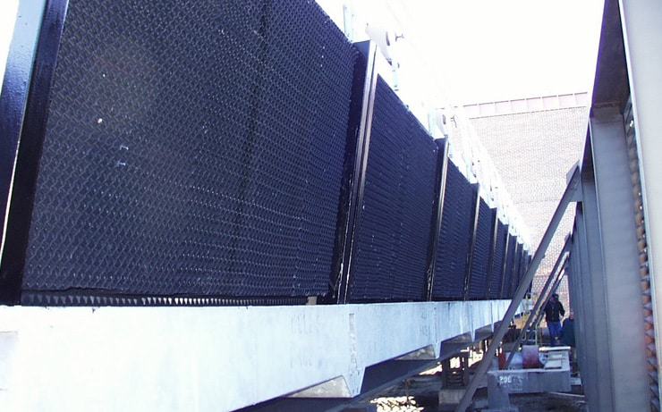 structure maintenance for cooling towers